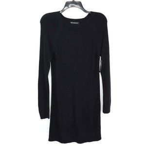 International Concepts Womens Sweater Dress Black